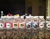 Superhero Super Hero Birthday Party Water Bottle Labels  - Printable - Digital