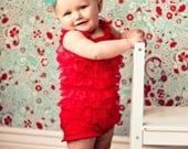 CLEARANCE Lace petti romper - RED - Photography Prop - STRAPLESS