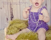CLEARANCE - Baby petti romper - GRAPE PURPLE - Photography Prop - With or Without Straps
