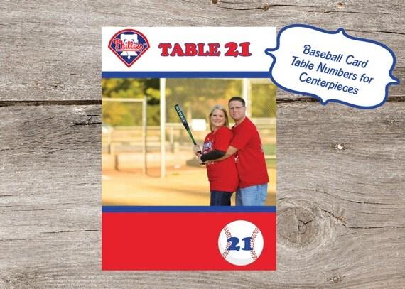 Baseball Card Table Numbers - perfect for a baseball themed wedding (printable file)