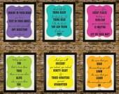 6 5x7 Dr.Seuss Seuss Motivational Quote Poster Set Prints - Classroom Playroom Artwork