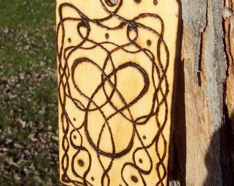 On Sale * Heart Braided Curvy Design Window Ornament Tag Decoration