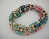 Hand Rolled Beads from Recycled Papers into Wearable Art