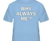 Mario Balotelli Soccer Why Always Me Man City Light Blue T Shirt