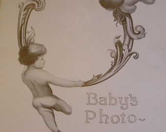 Antique Frederick & Nelson Baby's Biography, Department Store Baby Keepsake Book