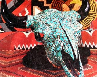 1974 Arizona Highways Magazine, TURQUOISE in Native Indian Jewelry Illustrated