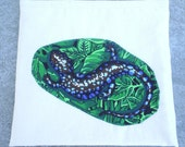 Snack bag or pouch: blue salamander