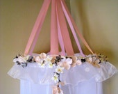 Listing for Erin-Pink and Gray Children's Floral Canopy