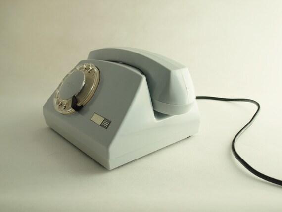 Vintage rotary telephone grey