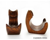 New Wooden Pipe Stand Rack Holder for Tobacco Pipe - Smoking Pipe. Handcrafted