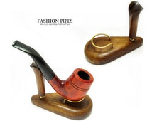 """Ash-Tree Wooden Pipe Stand-Showcase """" SAIL """", NEW Rack Holder for Tobacco Pipe, Smoking Pipes. New Handcrafted Pipe Stand"""