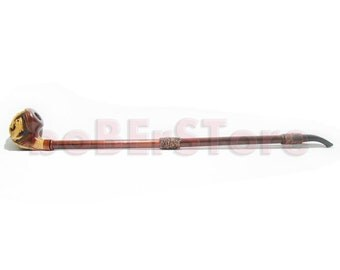Tobacco Smoking Pipe/Pipes Exclusive Style Extremly Long 25''  Engraved. HANDCARVED DRAGON, Limited Edition