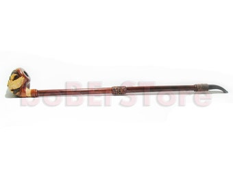 Exclusive Style Extremly Long 25''  Tobacco Smoking Pipe Engraved. HANDCARVED GOLDENEAGLE, Limited Edition