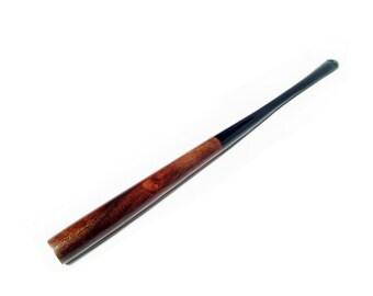 """Long Slim Cigarette Holder """"Audrey Hepburn"""". Long Hand Carved Holder LADY SLIM  7'' / 180 mm. Pear wood handmade."""