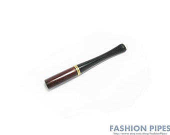 "Mens Cigarette Holder. Short Cigarette holder for Men Pear wood handmade Hand Carved  3.5""/90mm  Fits Regular Cigarettes"