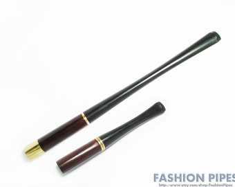 """Long Cigarette holder LADIES Cigarette Holders """"Audrey Hepburn"""" 6.7""""/150 mm & 3.5""""/90 mm fits Regular Cigarettes Brown Wood Handmade."""
