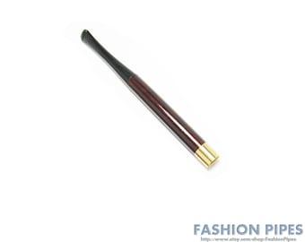 """Vintage Sleek Cigarette holder """"Audrey Hepburn"""" 5.1""""/130 mm fits regular, Pear Wood Handcrafted."""