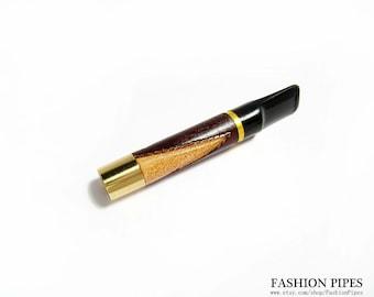 Exclusive Cigarette Holder Wooden Engraved Short Cigarette Holder. Handmade 3'' / Fits Regular Cigarettes Cigarette Holders.