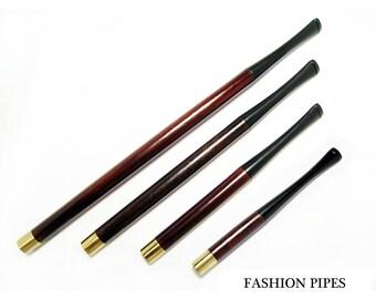 """Long Cigarette holder Audrey Hepburn Cigarette Holders 3.9"""" 5.1"""" 6.7""""  8.7""""  Regular Hand Carved  Cigarette Holders Set."""