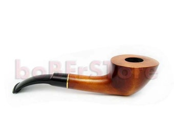"""Handcrafted Wood Pipe Pear-Root Tobacco pipe """"DAKOTA"""", Smoking Pipe/Pipes. Magic Wooden Pipe 6.5'' Designed For Pipe Smokers"""