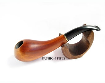 "Slim Wood Pipe, Collection Tobacco Pipe/pipes, Smoking Pipe. Handcrafted Irish Wooden Pipe ""DROP"", Designed for real Pipe Smokers."