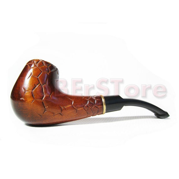 Author Collection Wooden Pipe - Tobacco Pipe - Smoking Pipe/Pipes. UNIQUE Hand Carved Wood PIPE SAHARA. Limited Edition