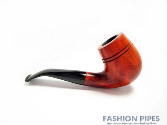 "Handcrafted Wood pipe Single copy ""Bent Dublin"" Tobacco Pipe/Pipes of Pear, Smoking Pipe Classic Wooden pipe Designed For Pipe Smokers."