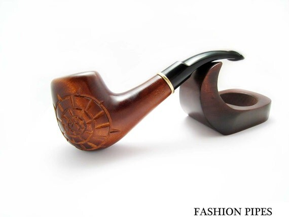 "EXCLUSIVE Wooden pipe ""HELIX"" Tobacco Pipe/Pipes Smoking Pipes/Pipe. Handcrafted Wood Pipe fits 9mm filters Best Price in FPS"
