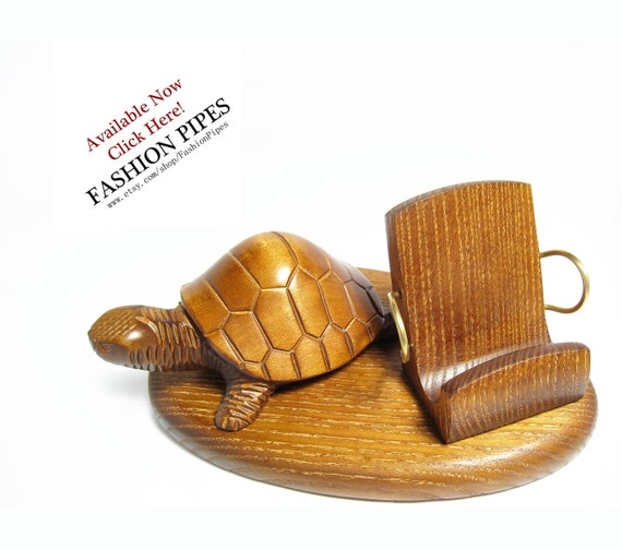 WOW, Wooden Stand TURTLE, New IPhone 5/4S/4/3GS Wood Table Stand. Unique Handcrafted Natural Ash-Tree