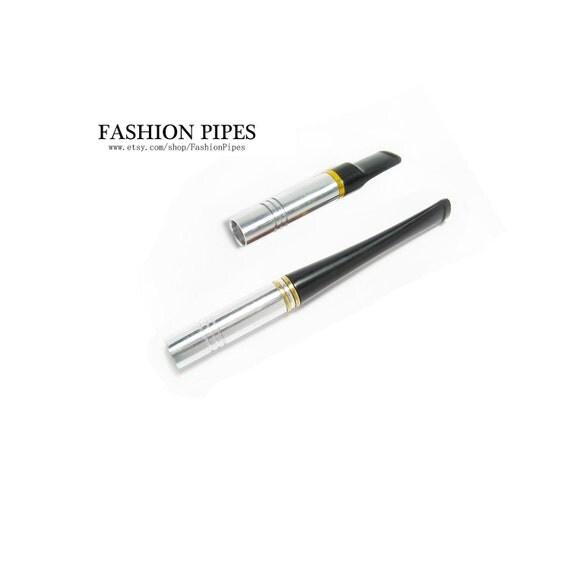 "Metal Cigarette Holders. Short Cigarette Holder 3.5""/90 mm & 2.6''/65 mm fits regulars, Handmade Fashion Cigarette Holders Set"