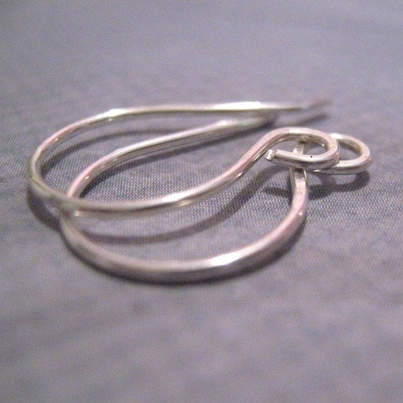 1 pr handmade Earwires sterling silver