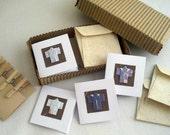 Origami kimono greeting cards miniature stationery set