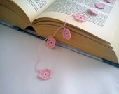 Dollhouse miniature pink crochet flower garland