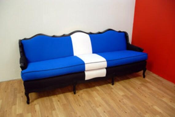 Black And Blue Vintage Modern Sofa for etsy member: CHRISCOS