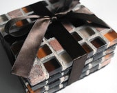 Glass and Stone Tile Coasters