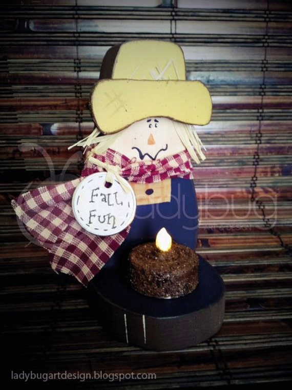 Scarecrow Tea Light Holder