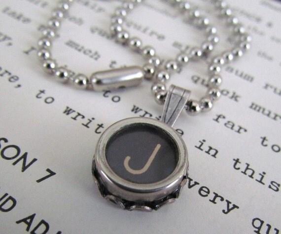 PERSONALIZED Vintage Typewriter Key Necklace