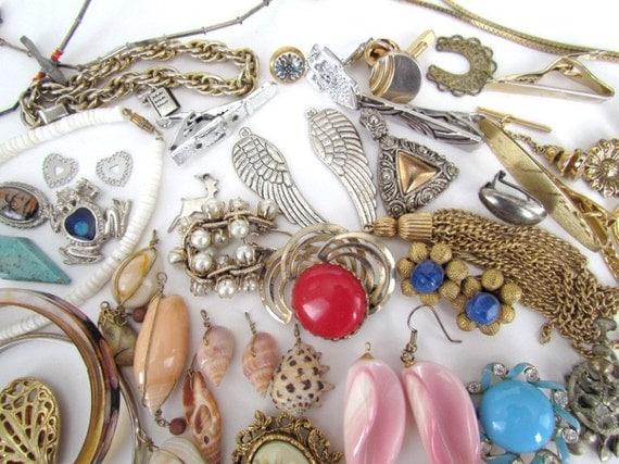 Vintage Jewelry Destash for Repurposing
