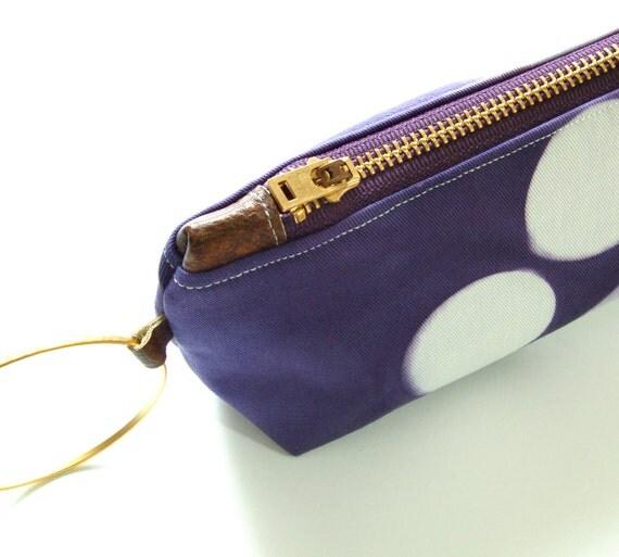 Tie Dye Purple Clutch - Contemporary Shibori Wristlet Clutch - Amethyst