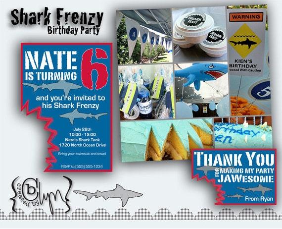 Shark Frenzy Birthday Party Pack