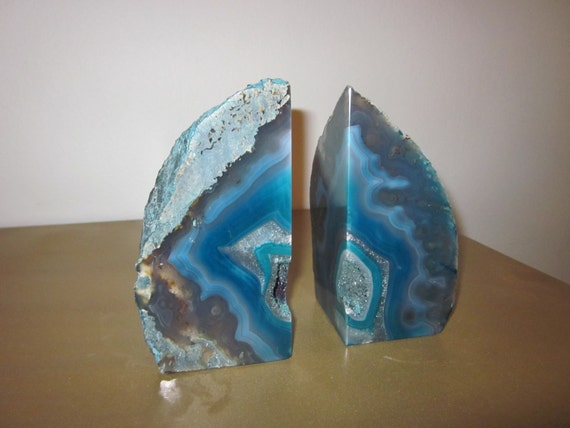 Turquoise Agate Bookends