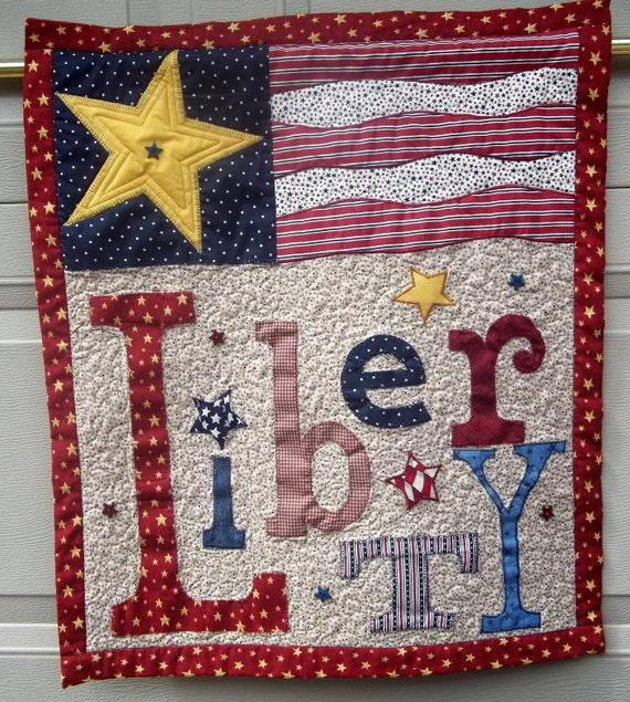 Patriotic Quilted Wall Hanging Liberty
