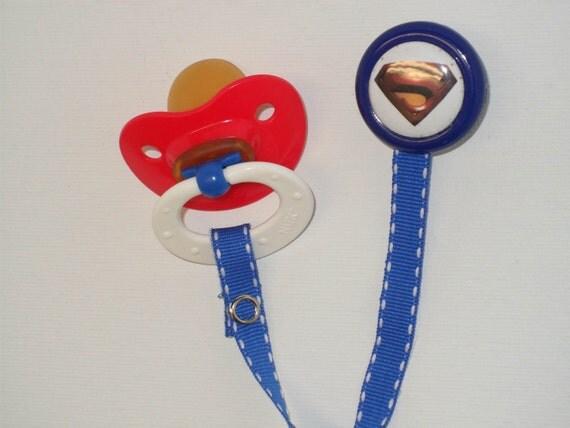 Superman Pacifier Clip 9