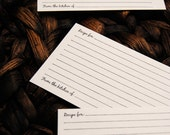 hand stamped blank 3 x 5 recipe cards on blank index cards (20)