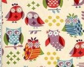 Personalized Designer Minky Blanket Robert Kaufman Twill Owl (Free Monogramming)