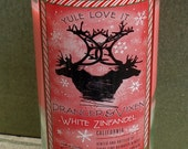 Christmas Wine Bottle Candle