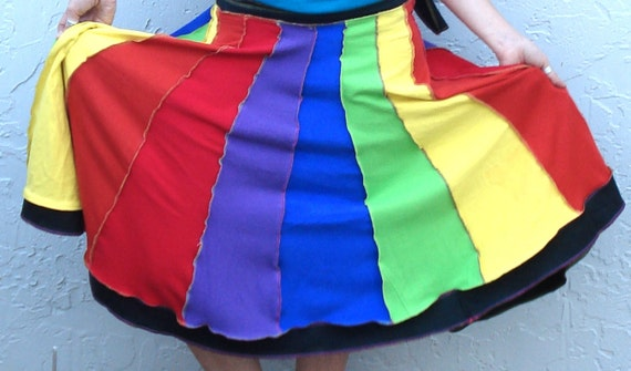 Sundress skirt made from upcycled T-shirts
