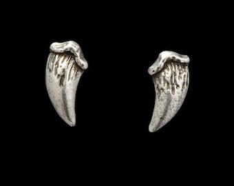 Vampire Fang  Earrings Antique Silver Fang Earrings, Vampire Jewelry, Fang Studs, Stud Earrings, Goth Earrings, Vampire Earrings