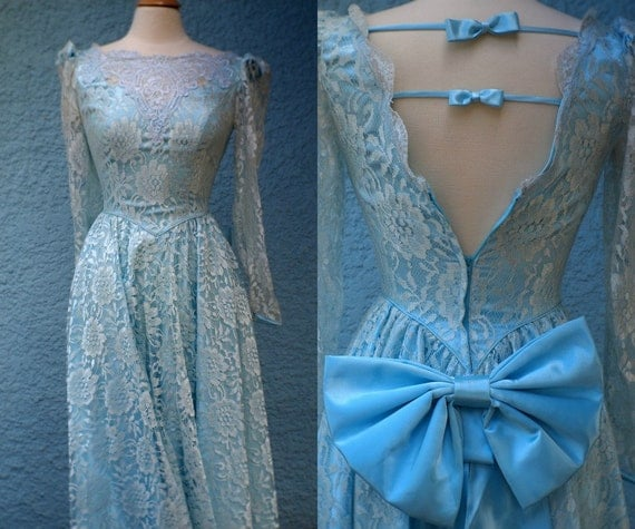 1980's Lace Prom Dress
