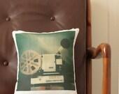 Super8 Projector Cushion - 30cm x 35cm - Cotton-Linen
